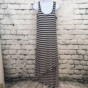 NWT Michael Kors maxi dress in dark blue and white